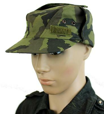CZECH ARMY FIELD HAT / CAP in M95 CAMO LARGE SIZES 57 - 61cm GENUINEISSUE