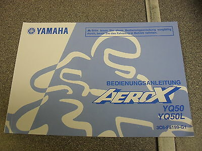 Genuine Yamaha Motorcycles Aerox Yq50 Yq50L Owners Manual In German