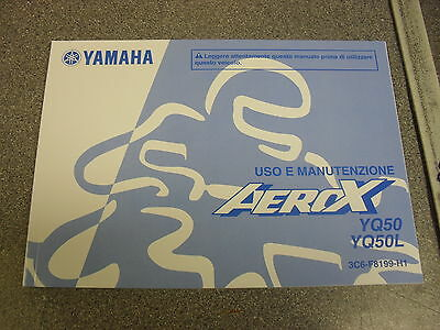 Genuine Yamaha Motorcycles Aerox Yq50 Yq50L Owners Manual In Italian