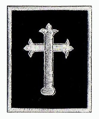 Ecusson brodé patche Croix Mousquetaire thermocollant / patch 830