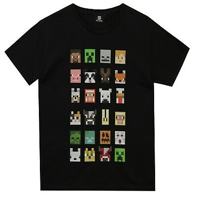 Boys Minecraft T-shirt | Minecraft Tee | Minecraft Top Multicharacter | NEW
