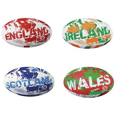 Optimum Rugby 4 Nations Hand Stiched Training Balls Mini & Size 5 rrp£12 - £16