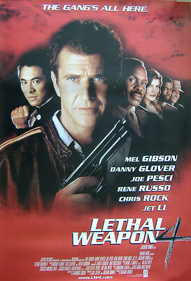 Lethal Weapon 4 (1998) Original S/S One Sheet Movie Poster, Mel Gibson, Jet Li