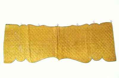 French 19th Century Quilted Silk Yellow Mustard Lambrequin/Valance