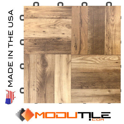 Trade Show Flooring Antique Oak Wood Style - 10'x10' |USA MADE - FREE & FAST DEL