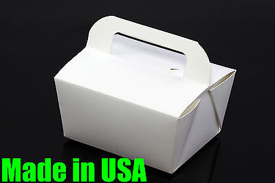 """50x 6"""" Handle Take Out / To Go Food Boxes Microwavable Noodles Macaron Muffin"""