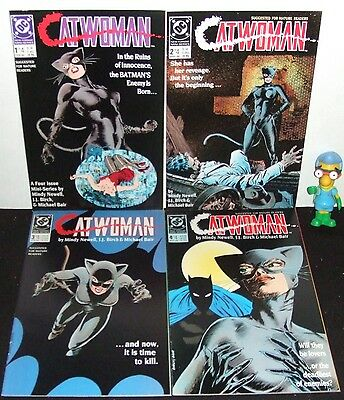Catwoman Dc 1989 Full 4 Issue Mini Series Set # 1 2 3 4 Batman App Mature Vf/nm