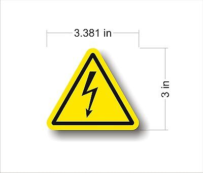 Industrial Safety Decal Sticker caution RISK OF SHOCK HIGH VOLTAGE warning label