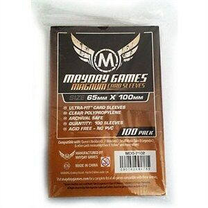 Mayday Magnum - 100 Card Sleeves - 65Mm X 100Mm - Blue Backed