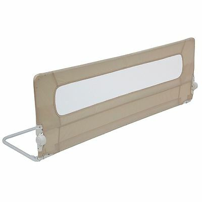 Safetots Extra Wide Mesh Bed Rail - Extra Long Toddler Bedguard - Natural