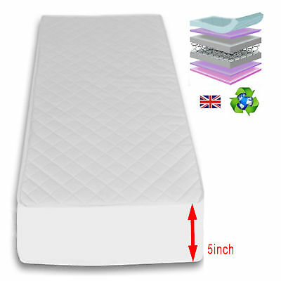 4Baby 5 Inch Maxi Air Cool Junior Toddler Cot Bed Safety Mattress 140 X 70 Cm