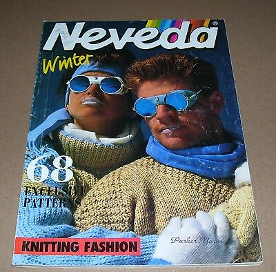 Vintage Winter Neveda Knitting Fashions Great Patterns 76 Pages