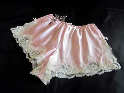 SALE! Pink Satin French Knickers LAST ONES! Lacy Slinky Panties Most Sizes NEW