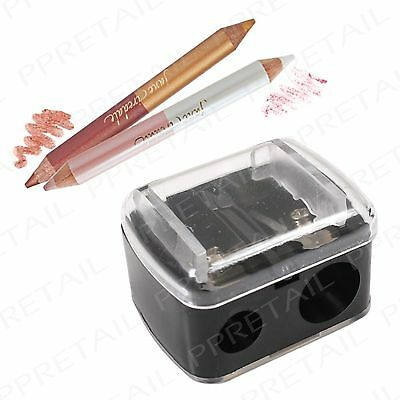 Precision Cosmetic Sharpener~2 HOLES~Eyebrow Pencil Duo Dual Eyeliner Lip Liner