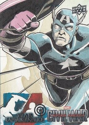 Captain America Civil War - Unknown Artist Sketch Card
