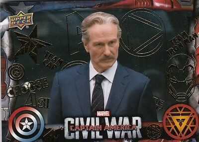 Captain America Civil War - Gold Parallel Base Card 19 (10/10)