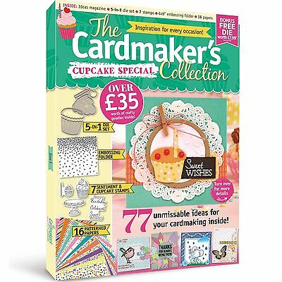 The Cardmakers Collection Cupcake Special Free 5-In-1 Die Embossing Folder Stamp