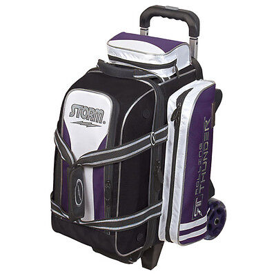 Storm Rolling Thunder 2 Ball Double Roller Bowling Bag Purple Black White