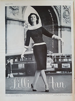 1961 Womens LILLI ANN Suit Parisienne Look French Braid Fashion Clothing Ad