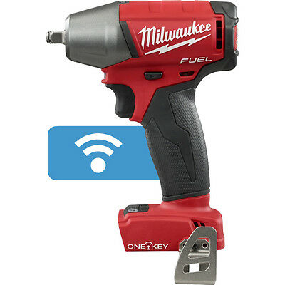"""Milwaukee 2758-20 M18 FUEL 18V 3/8"""" Compact Impact Wrench Kit w/ Clip & One Key"""