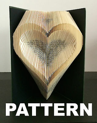 Book Folding Pattern - Create your own Artwork - Heart Outline