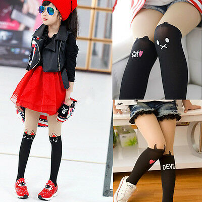Girls Kids Pantyhose Footed Dancing Tights Socks Hosiery School Children Clothes