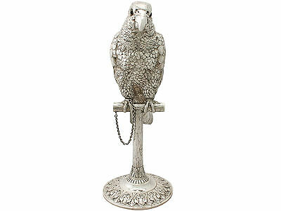 Sterling Silver Parrot Sugar Box - Antique Edwardian