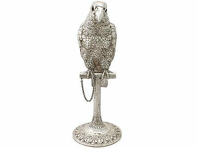Antique Edwardian Sterling Silver Parrot Sugar Box