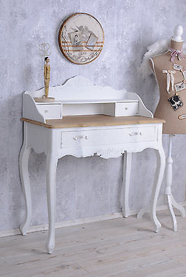 sekret r schreibtisch shabby chic wei restauriert eur 124 00 picclick de. Black Bedroom Furniture Sets. Home Design Ideas