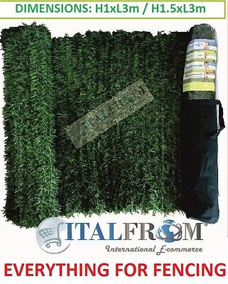 Artificial screening hedge pine leaves privacy screen