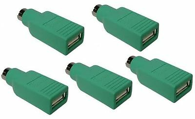 Bulk 5 USB to PS2 Adapters / converter clearance sale!!