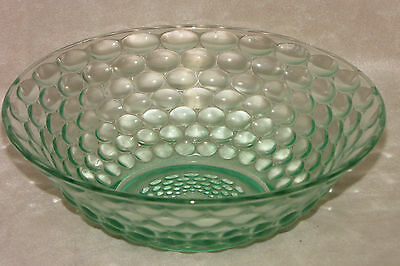 Vintage Indonesia Bubble Kim Green Glass Cereal Soup Bowl