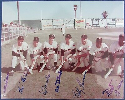 1954 New York Batters Signed 8x10 Photo Willie Mays Autographed 126309