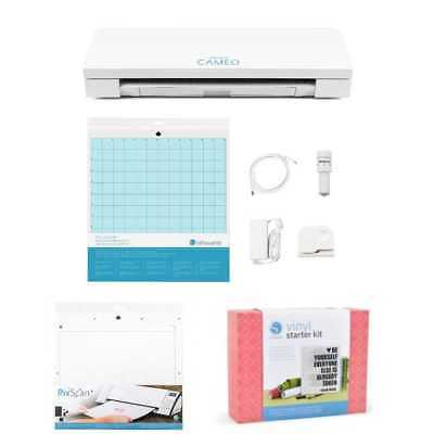 NEW V3 Silhouette CAMEO Digital Cutting Machine Vinyl Kit & FREE Pixscan Mat