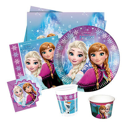 Disney FROZEN Northern Lights Party Range (Birthday/Plates/Napkins/Banner)