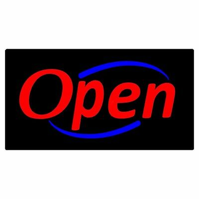 Ultra Bright Led OPEN Sign Neon Light Motion Flashing/Normally on switch USA182