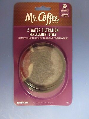 Mr. Coffee Water Filter Replacement Disc Pack of 2 # WFFPDQ-10  NEW