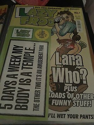 Lazy Frog Adult Comic Magazine - Issue 1 - Rare - 2000/1 period -