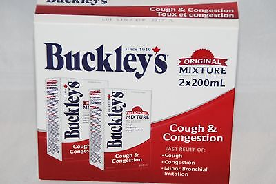 BUCKLEY'S Original Cough and Chest Congestion 200 MLx2 = 400ml Canadian