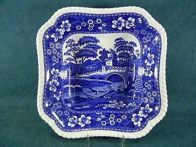"Copeland Spode Blue Tower Old Mark Square 9 1/4"" Vegetable Serving Bowl"