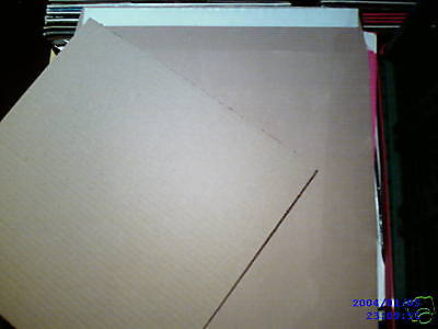 """100 12"""" Lp Strong 625 Micron Peel & Seal Brown Record Mailers & 200 Stiffeners"""