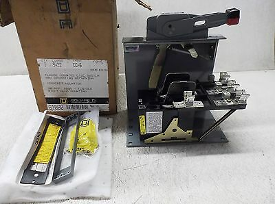Square D 8108D Flange Mounted Disconnect Switch Cc-6, Class 9422, Series B (New)