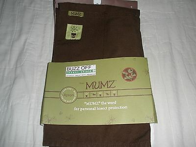 HTF Buzz Off Insect Shield Apron from Mumz-brown-1 sz-MIOP