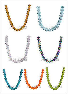 2x3mm Faceted 5040# Rondelle Crystal Glass Loose Spacer Beads Free Shipping