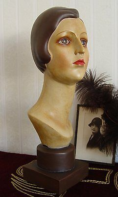 BUST OF WOMAN ART DECO CLASSIC 1930S YEARS Woman's head DISPLAY DUMMY Bust