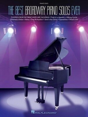 The Best Broadway Piano Solos Ever Book *NEW* Sheet Music, 70 Songs, Standards