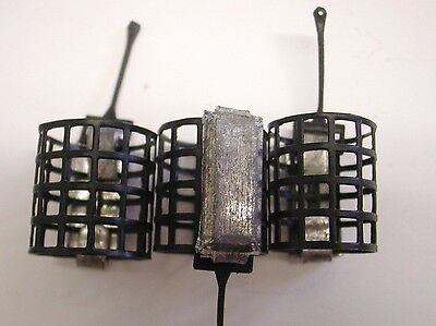 3 X Open Ended feeder Cage 12g. Includes a FREE double Ended Disgorger