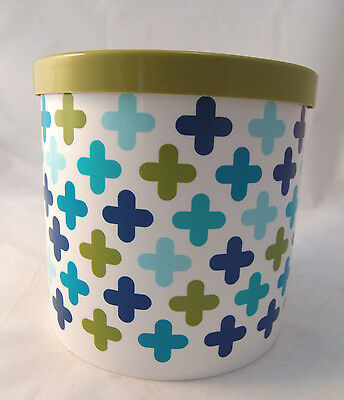 JONATHAN ADLER Cottonelle Toilet Paper Roll Holder Storage Cover Green & Blue