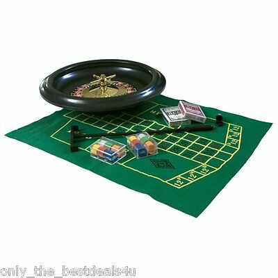 "Complete Party Roulette Set 6""/10""/16"" Massive Includes Felt Rake Chips Balls"