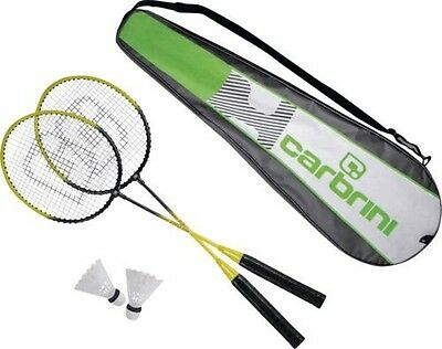 2 Person Badminton Shuttle Cock Set C/W Carry Bag - Free UK Shipping